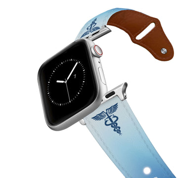 Caduceus Leather Apple Watch Band Apple Watch Band - Leather C4 BELTS