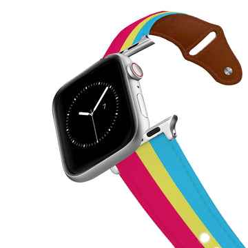 Pan Pride Leather Apple Watch Band Apple Watch Band - Leather C4 BELTS