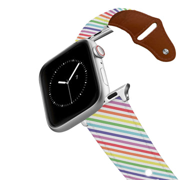 Pastel Pride Leather Apple Watch Band Apple Watch Band - Leather C4 BELTS