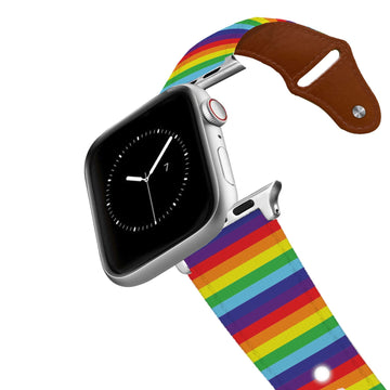 Rainbow Leather Apple Watch Band Apple Watch Band - Leather C4 BELTS