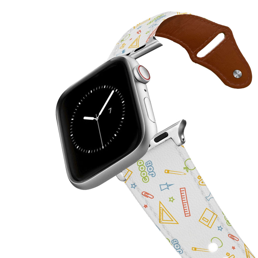 School Time Leather Apple Watch Band Apple Watch Band - Leather C4 BELTS