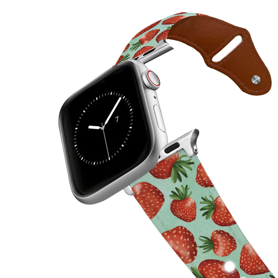 Strawberry Fields Leather Apple Watch Band Apple Watch Band - Leather C4 BELTS