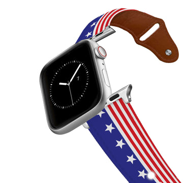 Americana Throwback Leather Apple Watch Band Apple Watch Band - Leather C4 BELTS