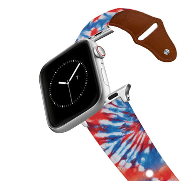 Americana Tie Dye Leather Apple Watch Band Apple Watch Band - Leather C4 BELTS