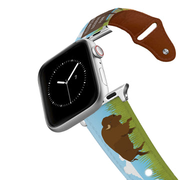 Yellowstone National Park Leather Apple Watch Band Apple Watch Band - Leather C4 BELTS