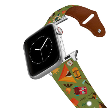 Camping Leather Apple Watch Band Apple Watch Band - Leather C4 BELTS