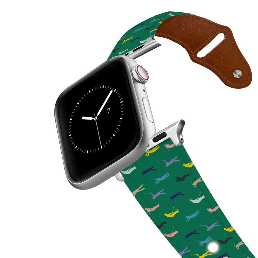Fore - Green Leather Apple Watch Band Apple Watch Band - Leather C4 BELTS
