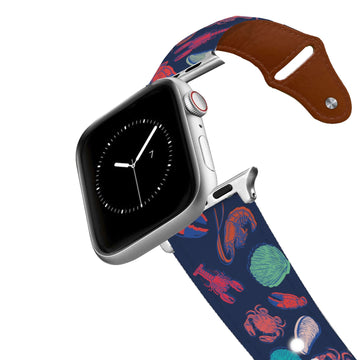 Under The Sea Leather Apple Watch Band Apple Watch Band - Leather C4 BELTS