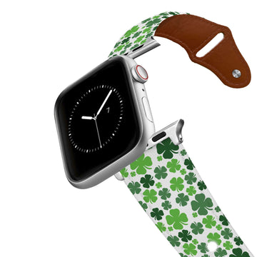 Clovers Leather Apple Watch Band Apple Watch Band - Leather C4 BELTS