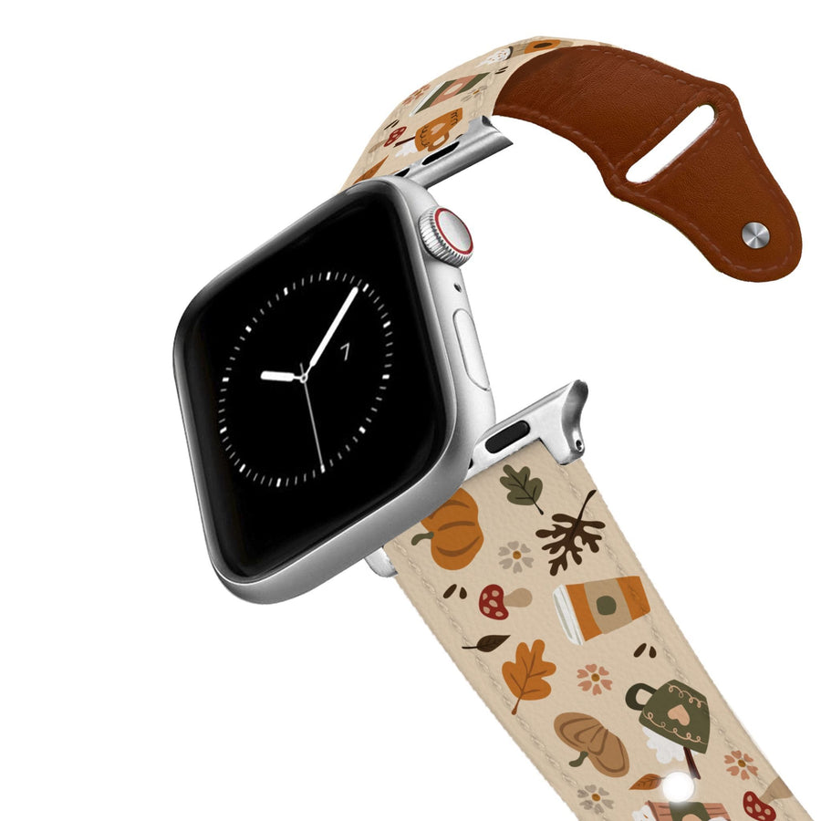 Fall Vibes Leather Apple Watch Band Apple Watch Band - Leather C4 BELTS