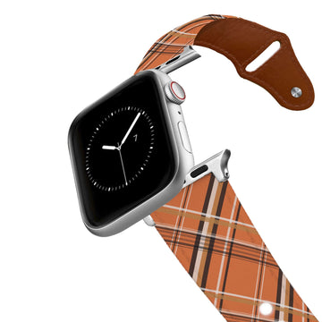 Fall Plaid Leather Apple Watch Band Apple Watch Band - Leather C4 BELTS