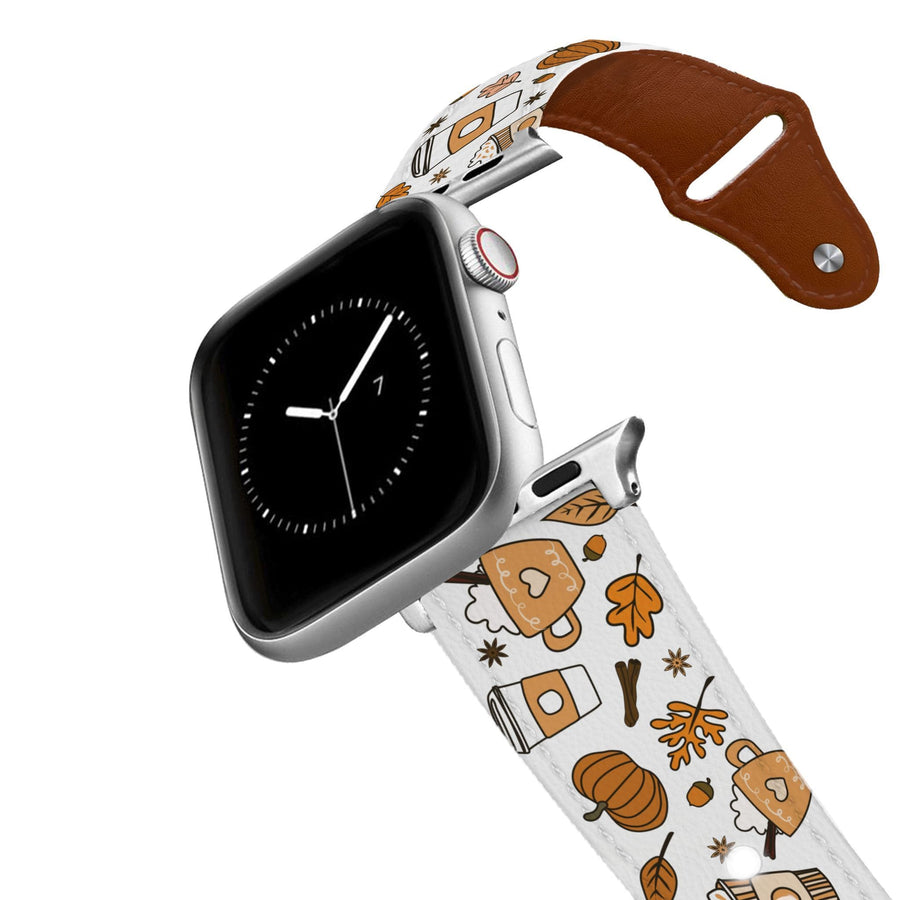 Pumpkin Spice Leather Apple Watch Band Apple Watch Band - Leather C4 BELTS