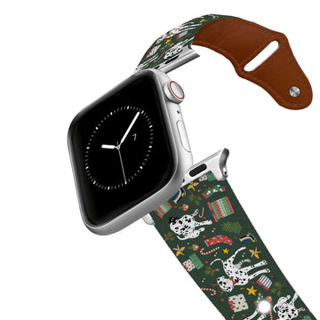 Peppermint Bark Leather Apple Watch Band Apple Watch Band - Leather C4 BELTS