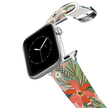 Pretty Poinsettia Apple Watch Band Apple Watch Band C4 BELTS