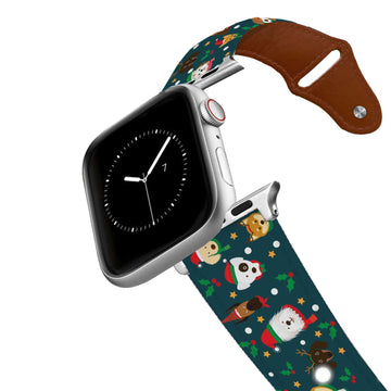 Santa Paws Leather Apple Watch Band Apple Watch Band - Leather C4 BELTS