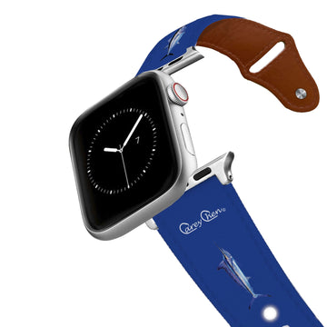 Carey Chen - Bio Series Game Fish Grand Slam Navy Leather Apple Watch Band Apple Watch Band - Leather C4 BELTS
