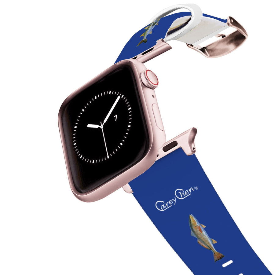 Carey Chen - Bio Series Inshore Grand Slam Navy Apple Watch Band Apple Watch Band C4 BELTS
