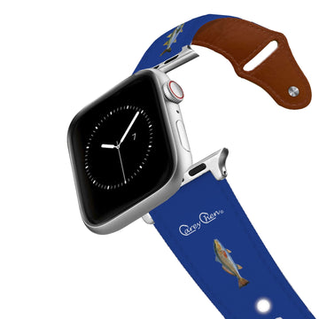 Carey Chen - Bio Series Inshore Grand Slam Navy Leather Apple Watch Band Apple Watch Band - Leather C4 BELTS