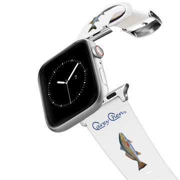 Carey Chen - Bio Series Inshore Grand Slam White Apple Watch Band Apple Watch Band C4 BELTS