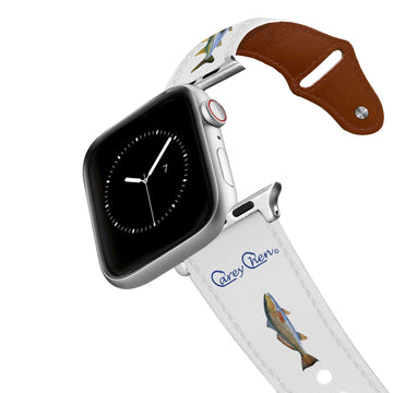 Carey Chen - Bio Series Inshore Grand Slam White Leather Apple Watch Band Apple Watch Band - Leather C4 BELTS