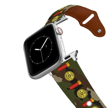 12 Gauge Camo Leather Apple Watch Band Apple Watch Band - Leather C4 BELTS