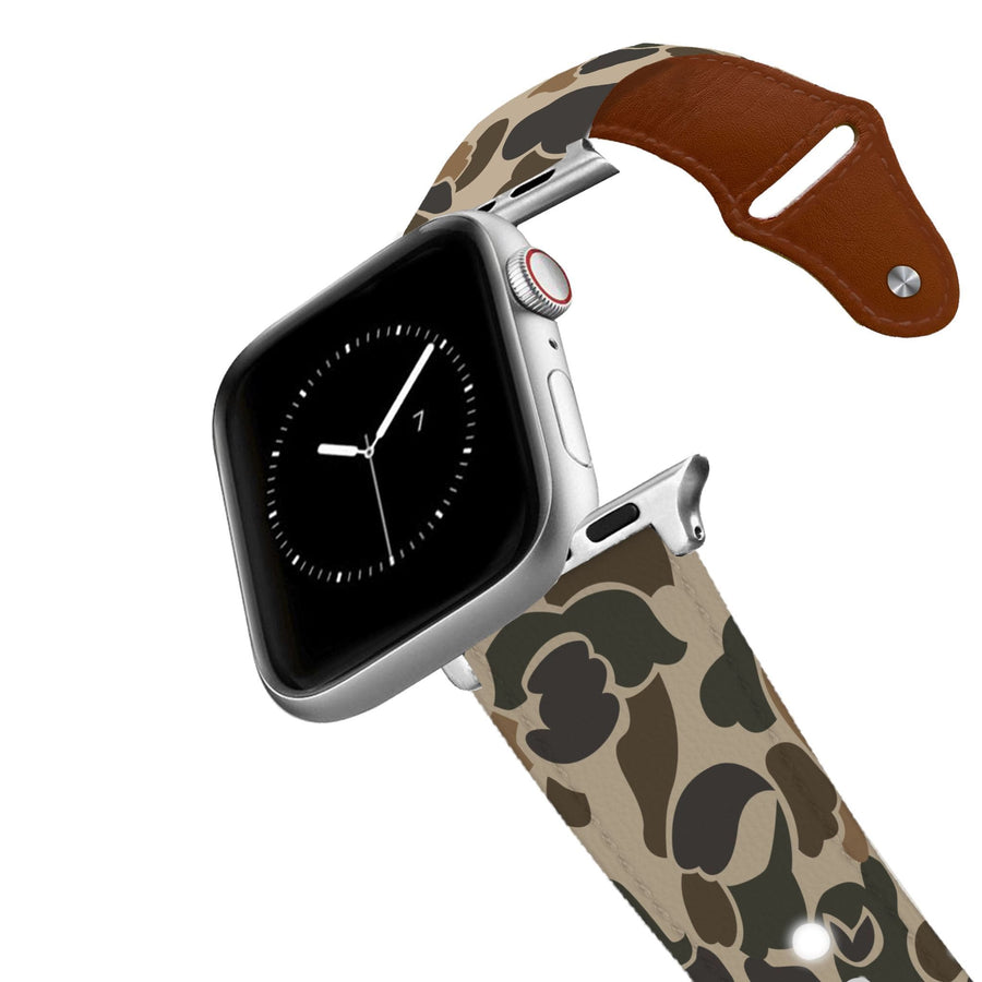 Brigadier Camo Leather Apple Watch Band Apple Watch Band - Leather C4 BELTS