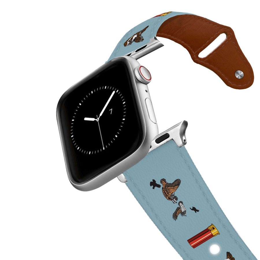 Quail and Shell Leather Apple Watch Band Apple Watch Band - Leather C4 BELTS