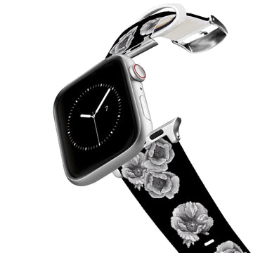 Decidedly Equestrian - Peony Black Apple Watch Band Apple Watch Band C4 BELTS