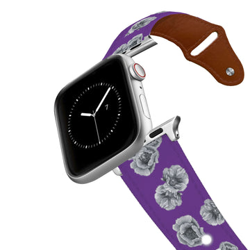 Decidedly Equestrian - Peony Purple Leather Apple Watch Band Apple Watch Band - Leather C4 BELTS
