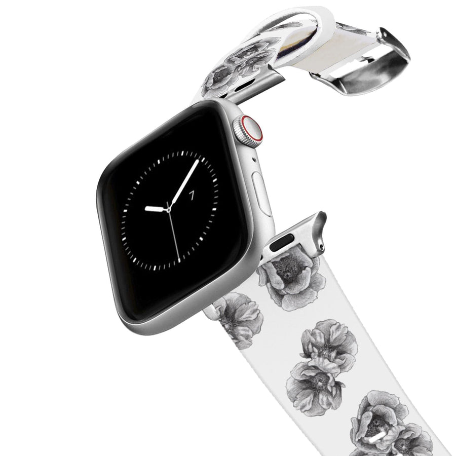 Decidedly Equestrian - Peony White Apple Watch Band Apple Watch Band C4 BELTS