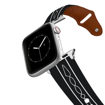 ETA Stitches Black Leather Apple Watch Band Apple Watch Band - Leather C4 BELTS