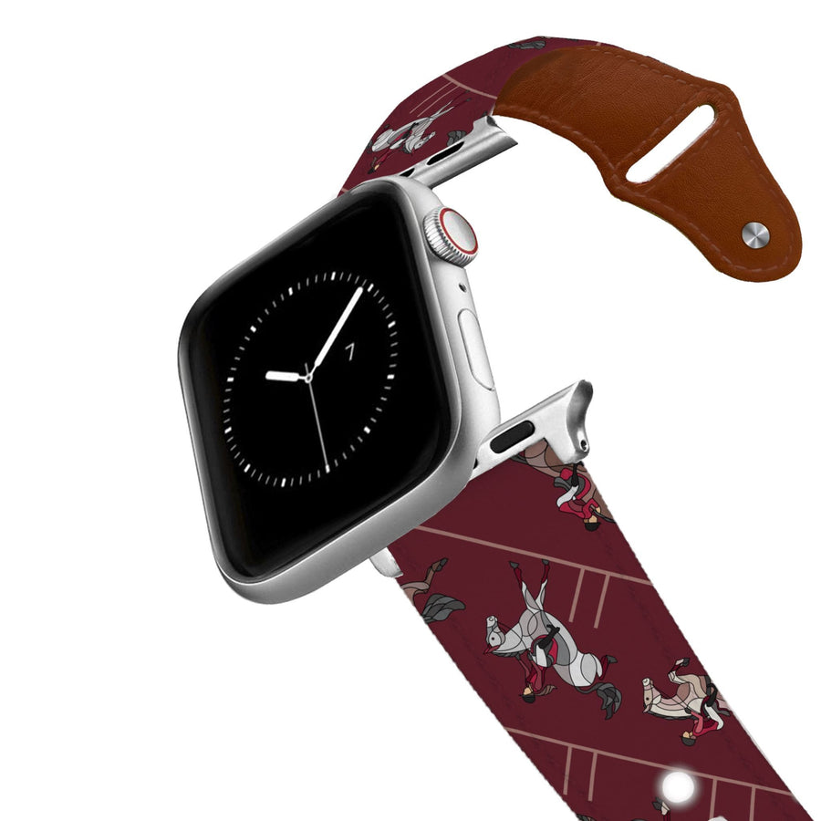 Horse on the L O O S E - Burgundy Jumper Leather Apple Watch Band Apple Watch Band - Leather C4 BELTS