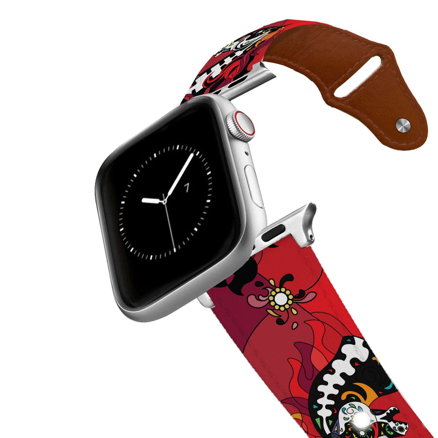 Horse on the L O O S E - Midnight Masquerade Leather Apple Watch Band Apple Watch Band - Leather C4 BELTS