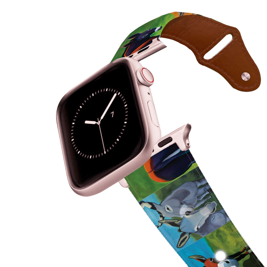 Leslie Anne Webb - Donkey Adoration Leather Apple Watch Band Apple Watch Band - Leather C4 BELTS