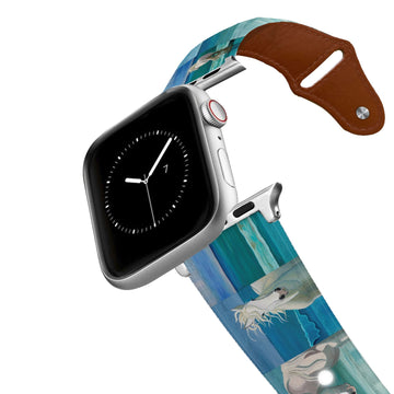 Leslie Anne Webb - Sam At The Beach Leather Apple Watch Band Apple Watch Band - Leather C4 BELTS