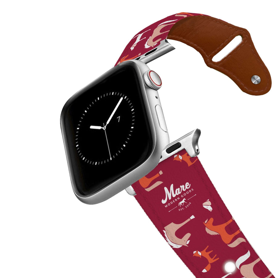 Foxes and Hounds Leather Apple Watch Band Apple Watch Band - Leather C4 BELTS