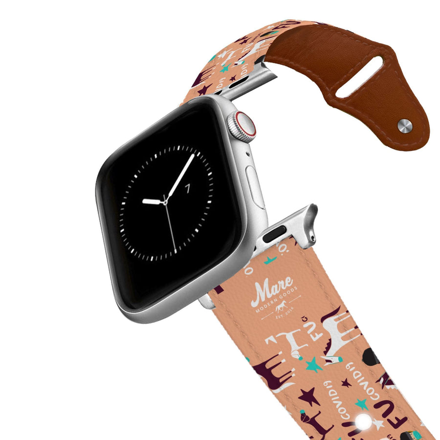 Mare Modern Goods - Covid 19 Leather Apple Watch Band Apple Watch Band - Leather C4 BELTS