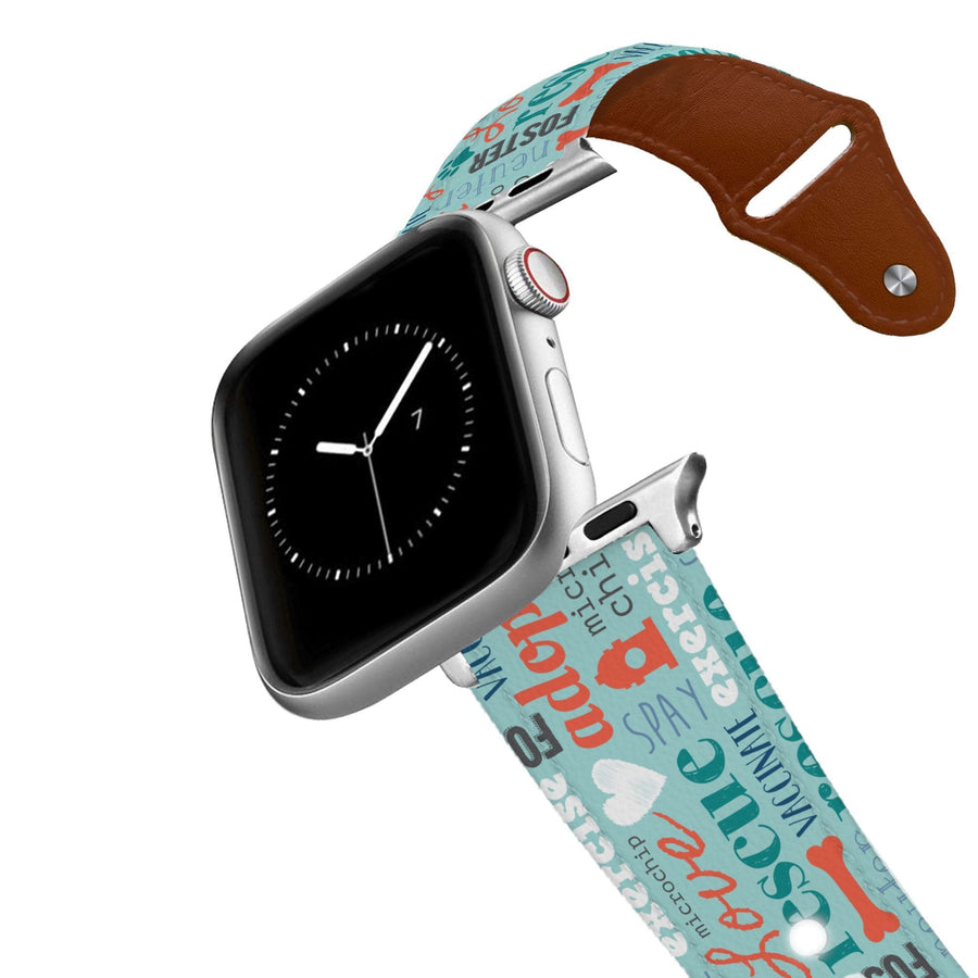 Teaching Words Leather Apple Watch Band Apple Watch Band - Leather C4 BELTS