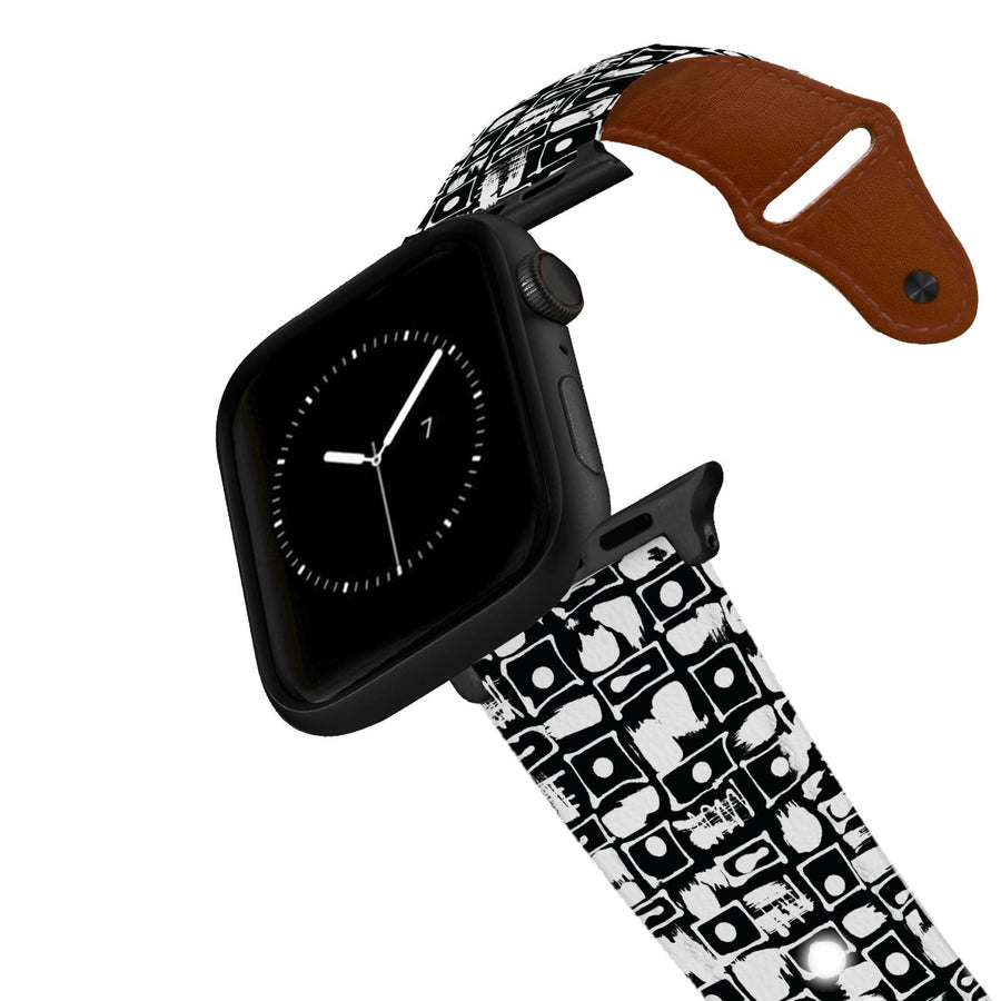 SanSoleil™ - Sand Dunes Leather Apple Watch Band Apple Watch Band - Leather C4 BELTS