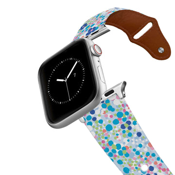 SanSoleil™ - Flower Power Leather Apple Watch Band Apple Watch Band - Leather C4 BELTS