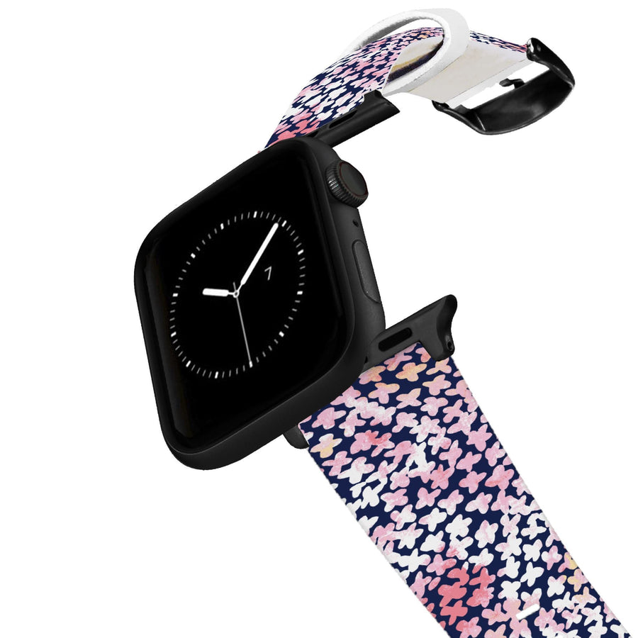 SanSoleil™ - Forget Me Not Pink Apple Watch Band Apple Watch Band C4 BELTS