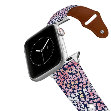 SanSoleil™ - Forget Me Not Pink Leather Apple Watch Band Apple Watch Band - Leather C4 BELTS