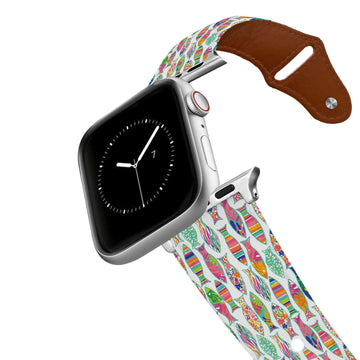 Spunkwear - Fancy Fish Leather Apple Watch Band Apple Watch Band - Leather C4 BELTS