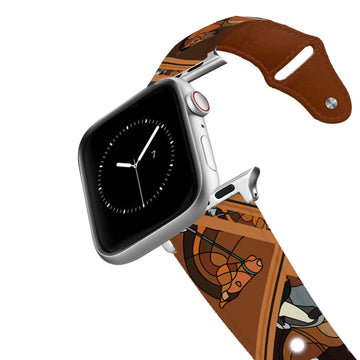 Horse on the L O O S E - Dressage Brown Leather Apple Watch Band Apple Watch Band - Leather C4 BELTS