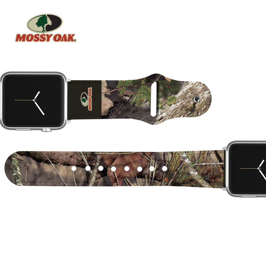 Mossy Oak - Break Up Country Brand Leather Apple Watch Band Apple Watch Band - Leather C4 BELTS