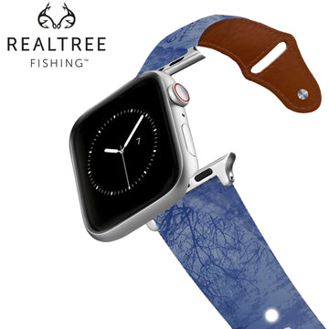 Realtree - Fishing Multi Leather Apple Watch Band Apple Watch Band - Leather C4 BELTS