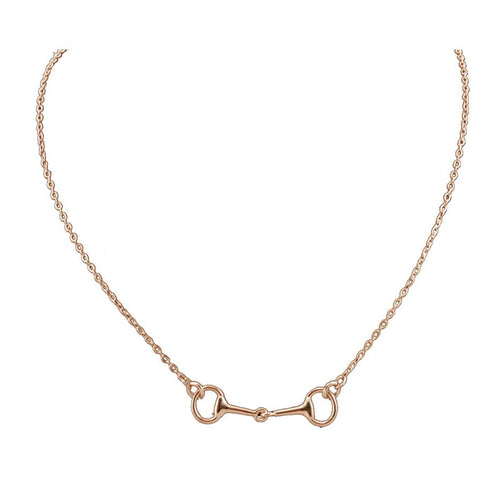 Rose Gold Snaffle Bit Necklace