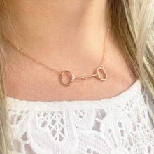 Load image into Gallery viewer, Rose Gold Snaffle Bit Necklace
