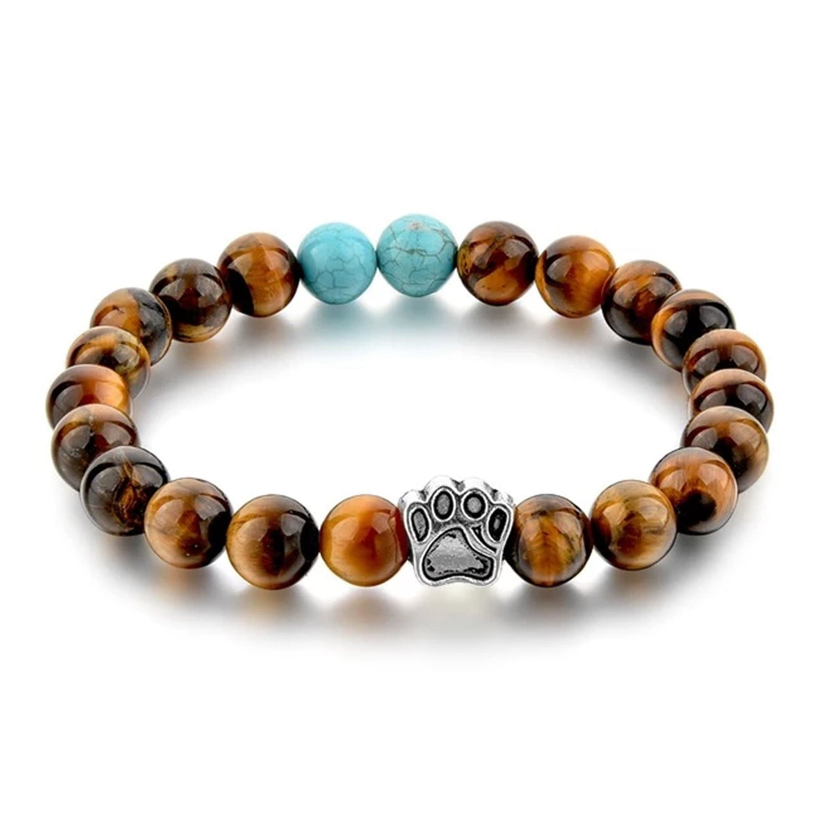 Tiger Eye Paw Yoga Bracelet