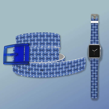 Bits Blue Belt & Apple Watch Band Bundle Product-Bundle C4 BELTS